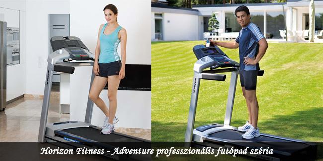 Horizon Fitness - Adventure professzion�lis fut�pad sz�ria
